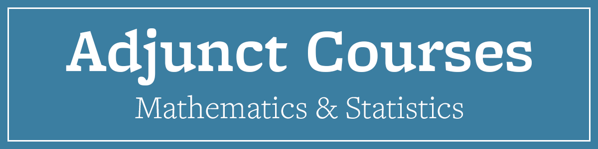 Adjunct Courses Math & Stats