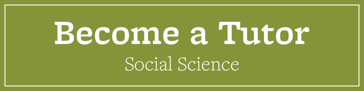 Become a Social Science Tutor