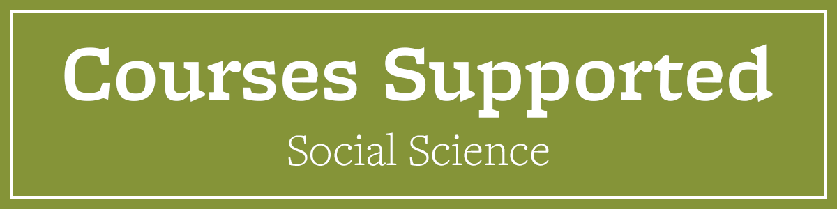 Courses Supported Social Science