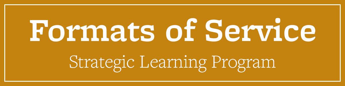 Formats of Service Strategic Learning Program