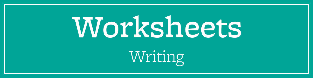 Writing Worksheets and Other Writing Resources | Student Learning Center