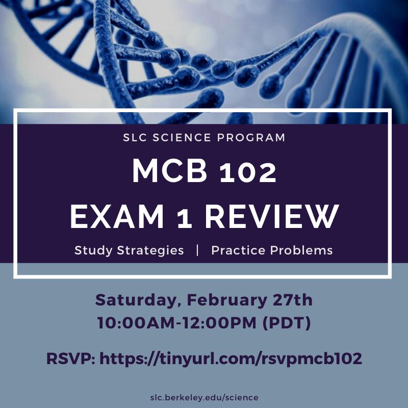 MCB 102 Exam 1 Flyer