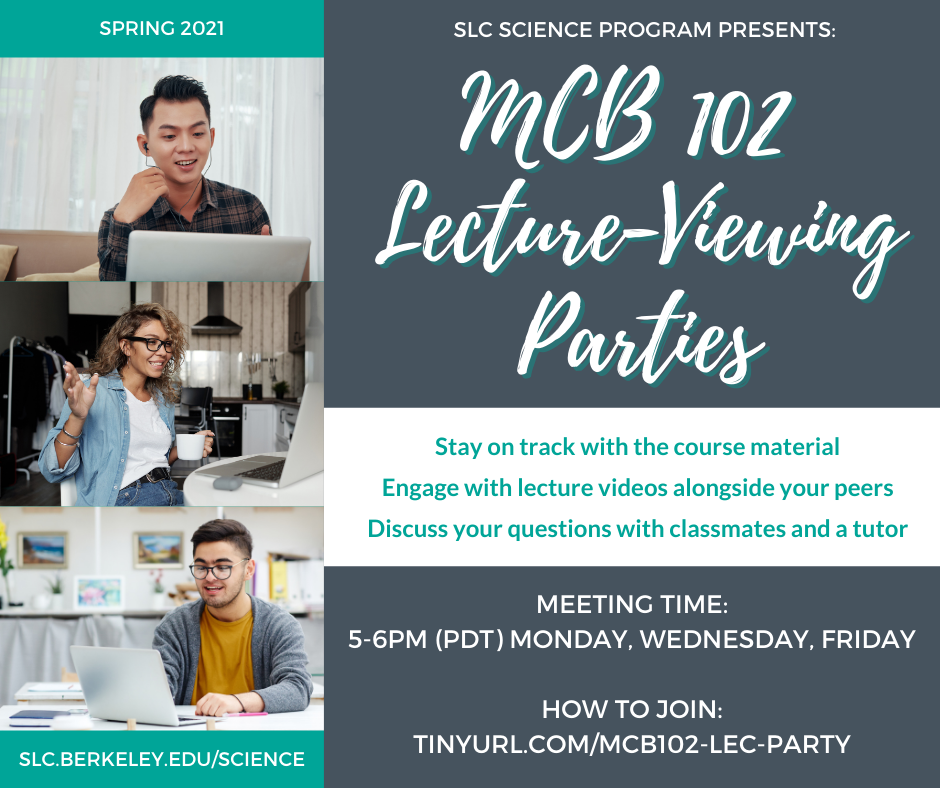 MCB 102 Lecture Party Flyer
