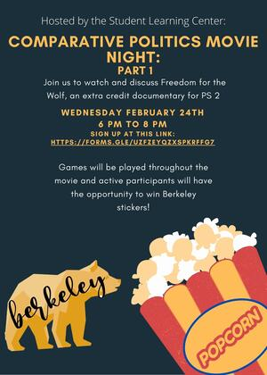 Flier for Comparative Politics Movie Night